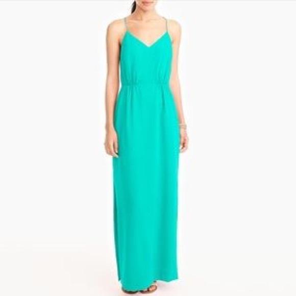 J. Crew Factory Dresses | J Crew Mint Green Lined Maxi Dress Size 6 ...